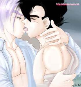Heated French Kissing-Gohan x Trunks-Maetel-ibDBZ Reloaded-b The Yaoi Saga -i-Thumb130